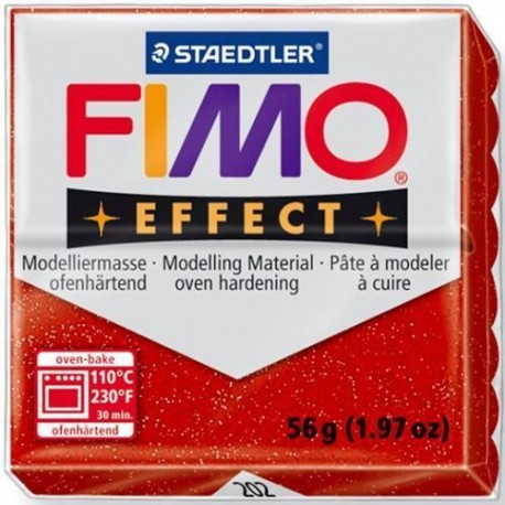 FIMO EFFECT GLITTER COLOURS 56G. (BRILLANTINATO)