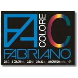 BLOCCO FABRIANO COLORE - 25 fogli - 220g.