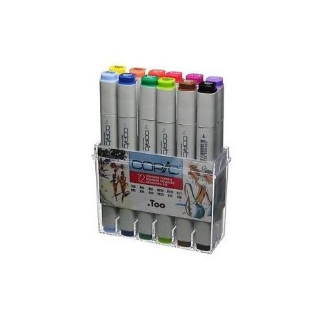 COPIC CLASSIC MARKER SET - 12 COLORI BASIC