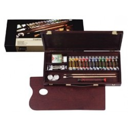 REMBRANDT OIL COLOUR BOX TRADITIONAL - ARTISTS' QUALITY - COLORI OLIO EXTRA FINI