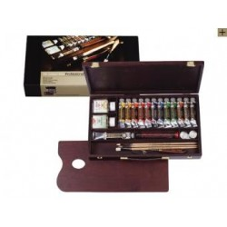 "OIL COLOUR BOX ""PROFESSIONAL"" REMBRANDT - ARTISTS' QUALITY - COLORI EXTRA FINI"