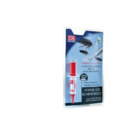 FOVAL gel scarafaggi - Gel insetticida per il controllo degli scarafaggi 5g.
