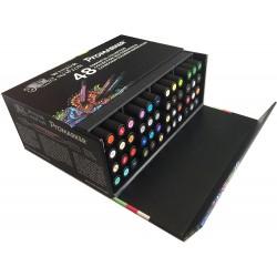Winsor & Newton Promarker Set di 48 Pennarelli essenziale a double-pointe colori assortiti