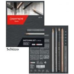 CARAN D'ACHE - ART BY SET. - SKETCHING SET - 14 PZ