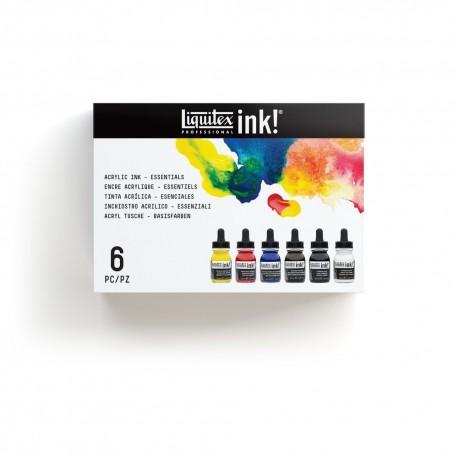 LIQUITEX INK - SET COLORI ESSENZIALI
