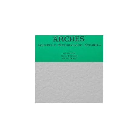 ARCHES AQUARELLE 300G/M - FOGLI BIANCO NATURALE 56X76