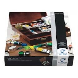 CASSETTA IN LEGNO ELEGANTE - OLIO TUBI DA 40ML. - BOX INSPIRATION