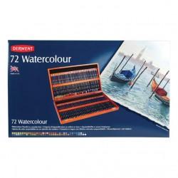 Derwent Watercolour 72 Matite Acquerellabili Cassetta 2 ripiani in Legno Massello