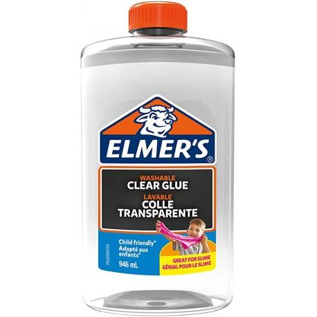 Elmer's Colla Vinilica Trasparente, Lavabile E Adatta Ai Bambini, Ottima per Realizzare Slime, 946 ml