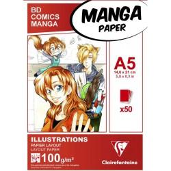 Blocco Manga  Illustrazioni, A5