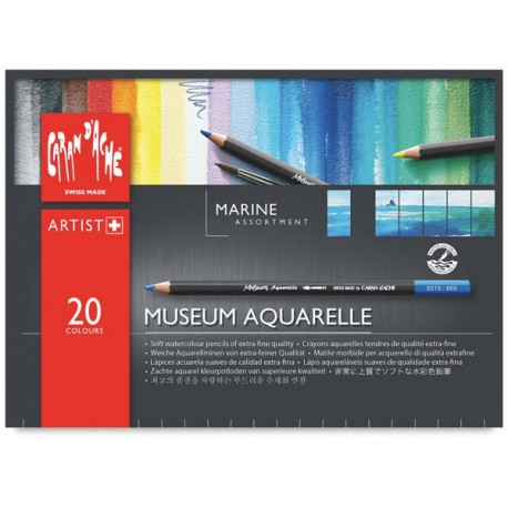 MATITE MUSEUM AQUARELLE MARINE ASSORTMENT 20 COLORI