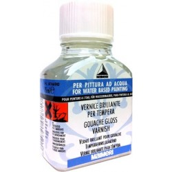 VERNICE BRILLANTE PER TEMPERA 75ml.