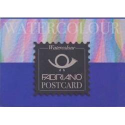 BLOCCO COLLATO 1 LATO 10,5x14,8 cm.- WATERCOLOUR GRANA FINA - POSTCARD 20 FG. 300g.