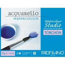 BLOCCO COLLATO 4 LATI WATERCOLOUR STUDIO TORCHON 270g. 20 FG.