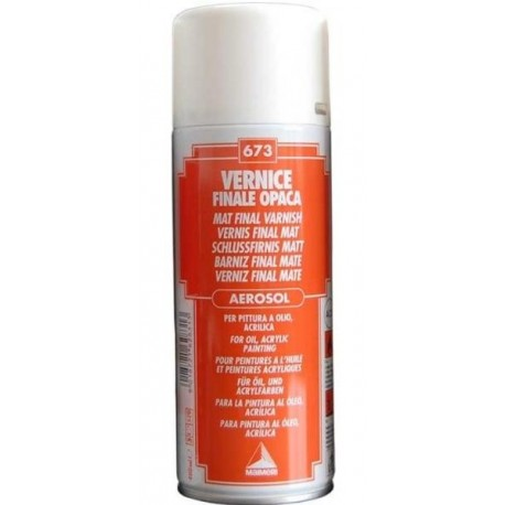VERNICE FINALE OPACA SPRAY 400 ml.