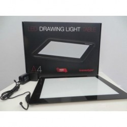 A4 LED DRAWING LIGHT TABLE + cutter in  alluminio a 5 punte + tappetino da taglio