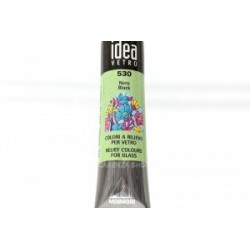 IDEA VETRO RILIEVO  nero - tubetto 20 ml.