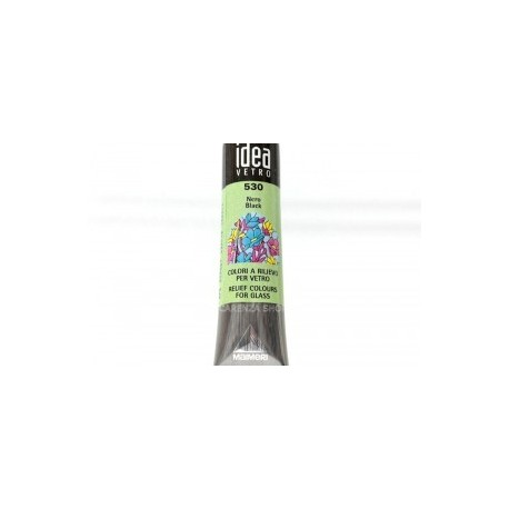 IDEA VETRO RILIEVO  nero - tubetto 20 ml.